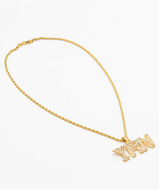 YRN x The Gold Gods Piece Gold Chain Necklace