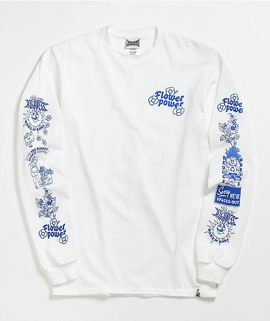 Your Highness Flower Power White Long Sleeve T-Shirt