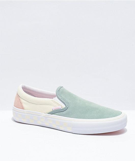 Zapatos de skate Slip-On Pro Washout azul y antiguo de Vans