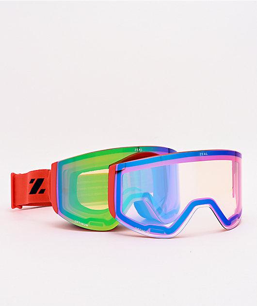Zeal Hatchet Salmon & Jade Mirror Snowboard Goggles