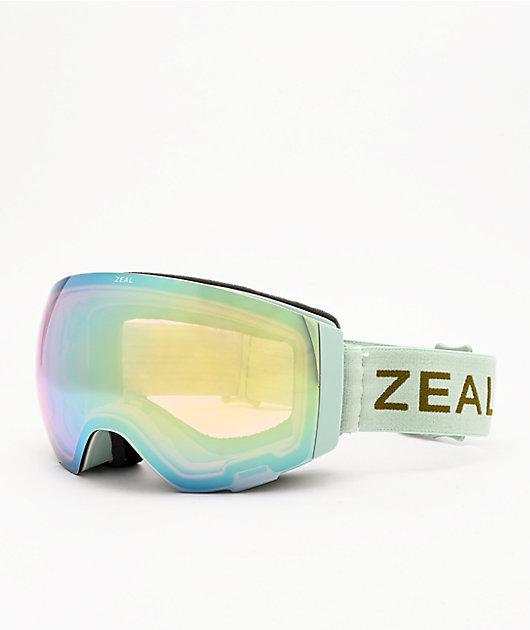 Zeal Portal Pistachio & Alchemy Mirrored Snowboard Goggles