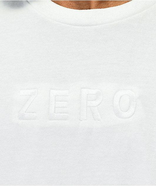 Zero Army Embroidered White T-Shirt