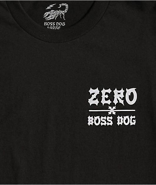 Zero x Boss Dog Roll camiseta negra
