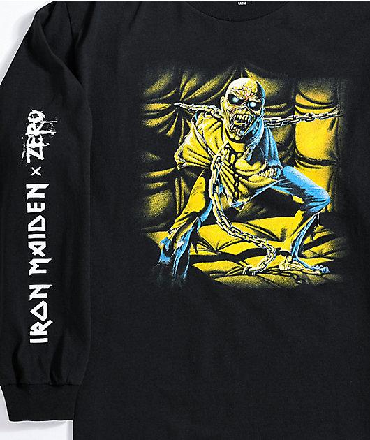 Zero x Iron Maiden Black Long Sleeve T-Shirt