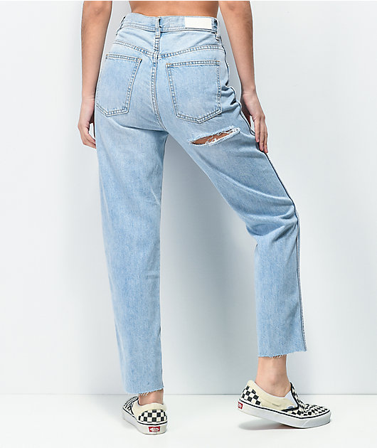 Ziggy Meet My Mum Hi Rise Light Wash Denim Jeans