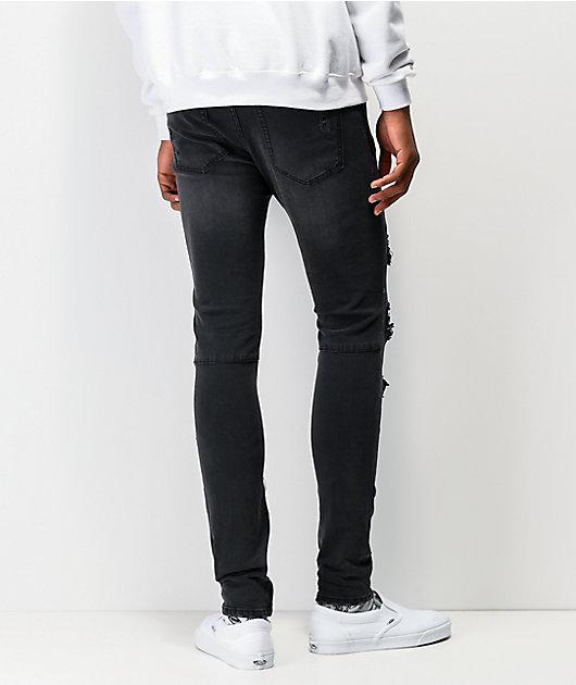 Ziggy Premium Pipes Black Skinny Jeans