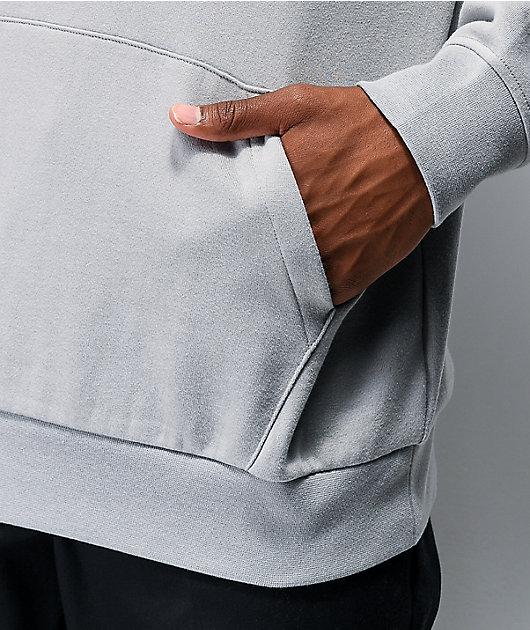 Zine Alt sudadera con capucha gris claro
