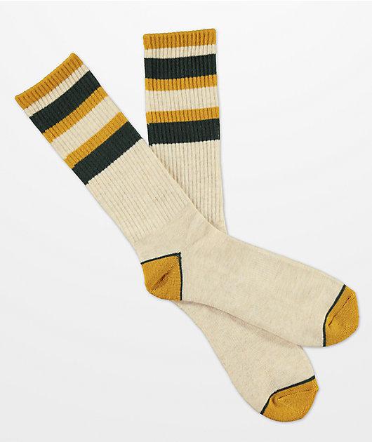 Zine Bird Baller Oatmeal Crew Socks