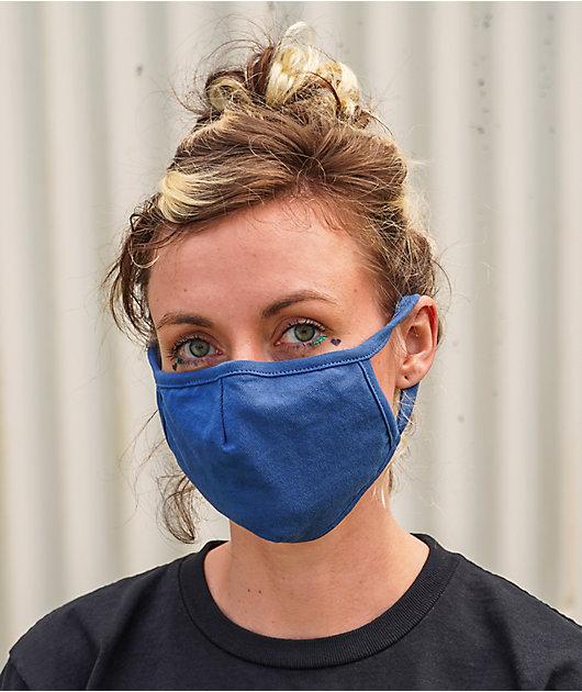 Zine Blue Face Mask