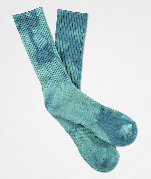 Zine Blue Tie Dye Crew Socks