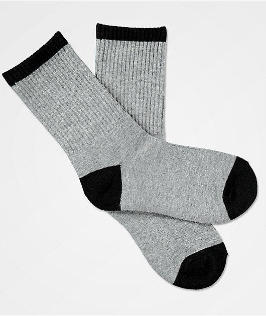 Zine Boys Grey Crew Socks