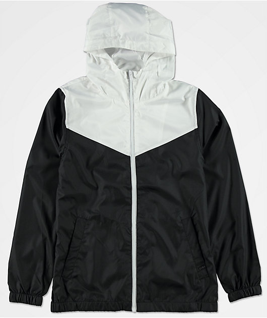 Zine Boys Sprint White & Black Windbreaker Jacket
