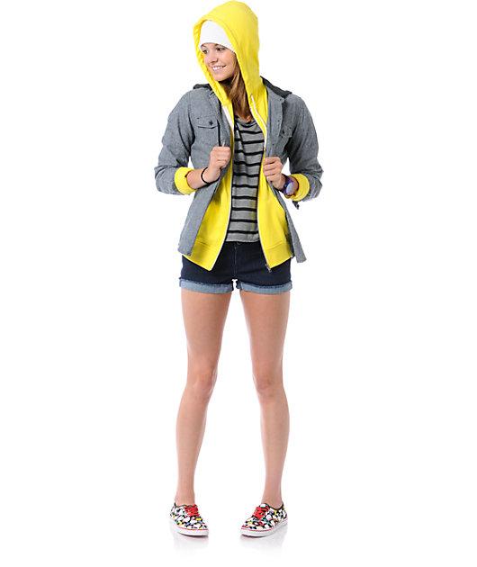 Zine Buttercup Yellow Zip Up Hoodie
