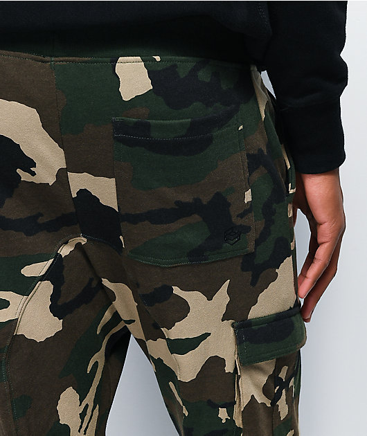 Zine Cargo jogger pantalones deportivos de camuflaje verde
