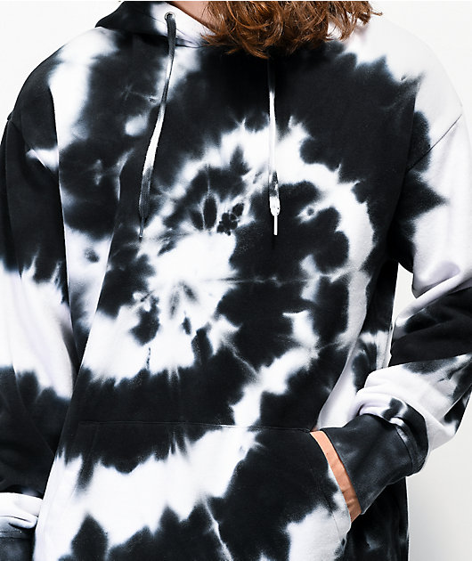 Zine Castle Black & White Tie Dye Hoodie