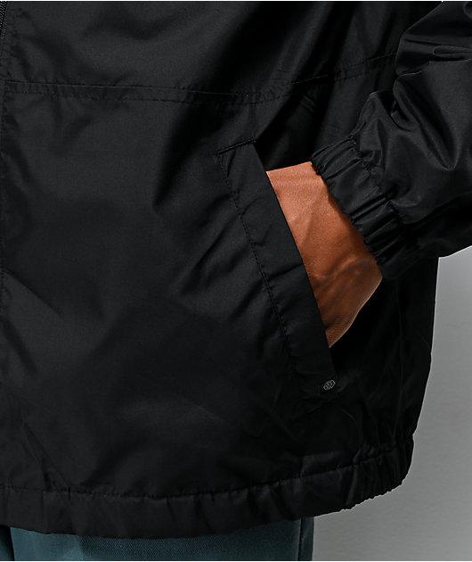 Zine Course chaqueta cortavientos negra