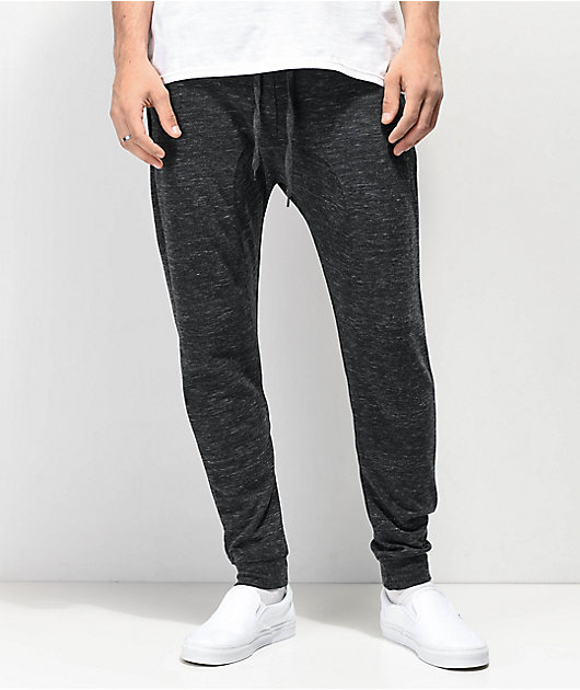 Zine Cover Solid Knit Charcoal Jogger Sweatpants