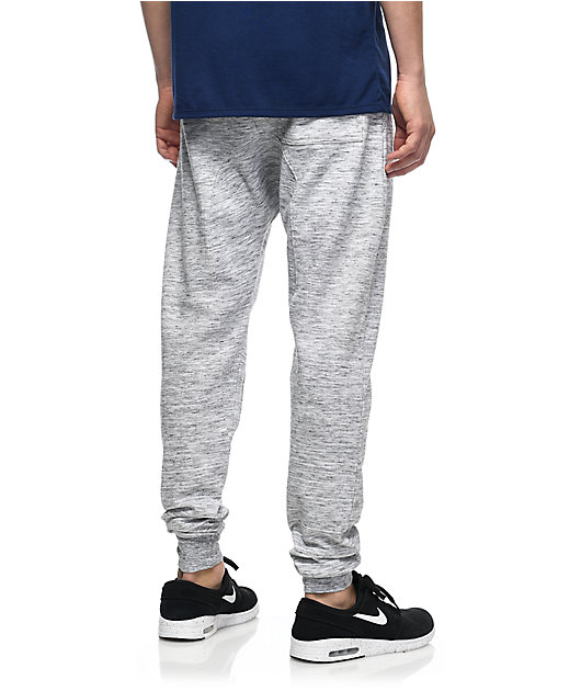 Zine Cover Space Dye Knit Jogger Pants