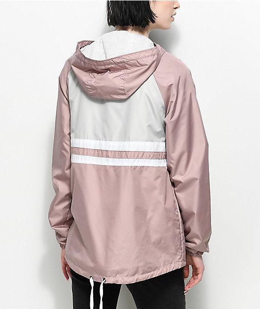 Zine Domino Mauve Pullover Windbreaker Jacket