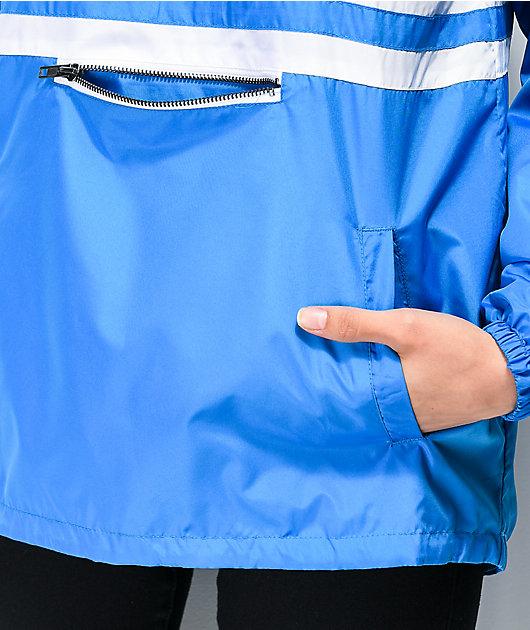 Zine Domino chaqueta cortavientos azul con media cremallera