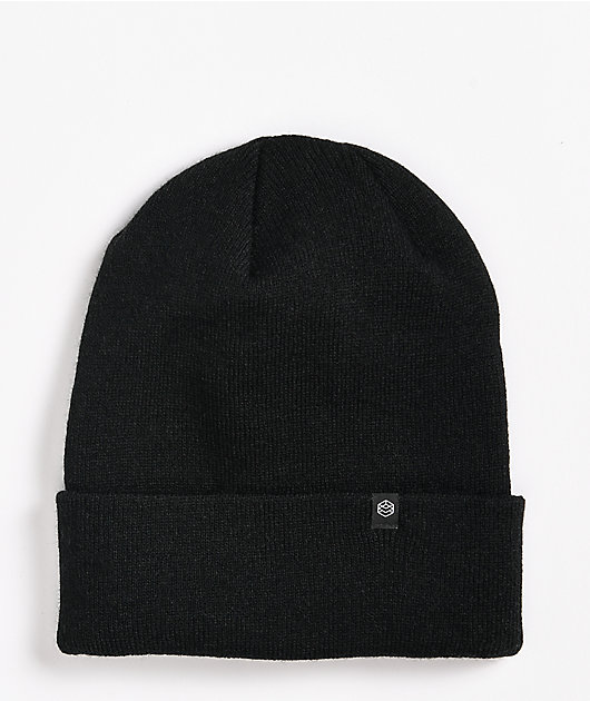 Zine Essential Black Beanie