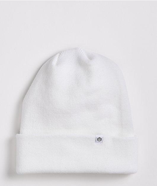 Zine Essential White Beanie