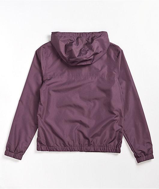 Zine Fern Purple Windbreaker Jacket