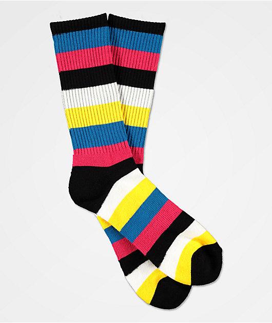 Zine Handjive Pink & Yellow Crew Socks