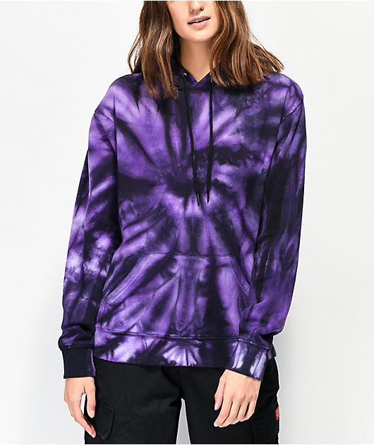 Zine Hunter sudadera con capucha tie dye morada