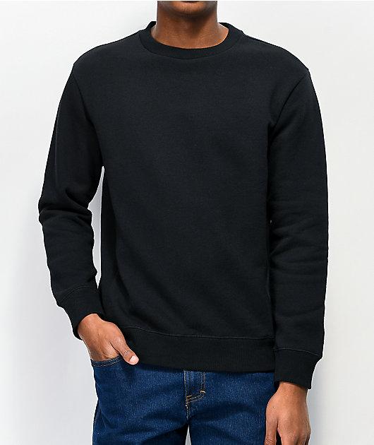 Zine Keep Black Crew Neck Sweatshirt