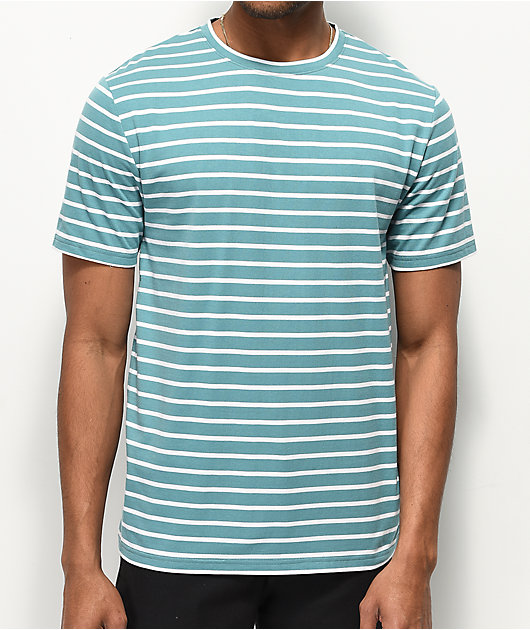 Zine Macro Blue & White Striped T-Shirt
