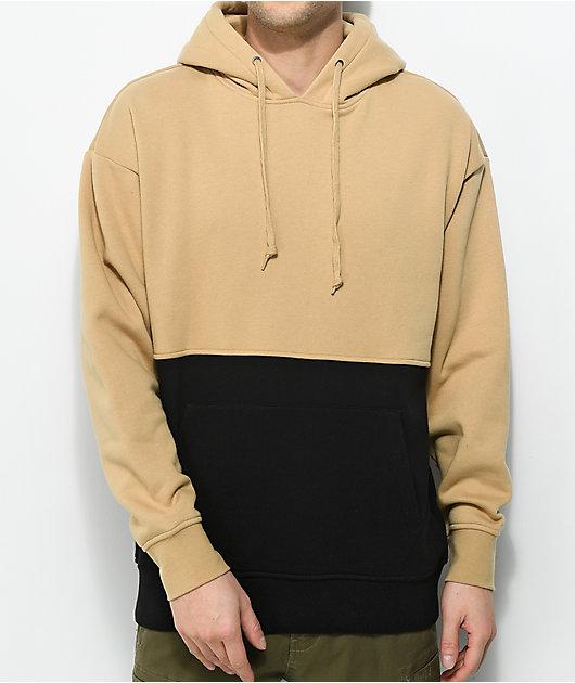 Zine Mass Khaki & Black Hoodie