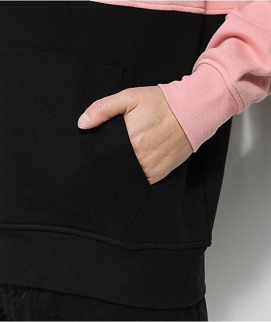 Zine Mass Pink & Black Hoodie
