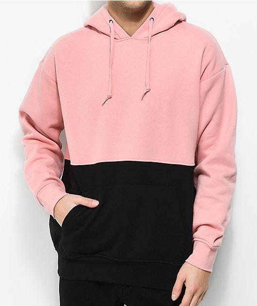 Zine Mass sudadera con capucha en rosa y negro