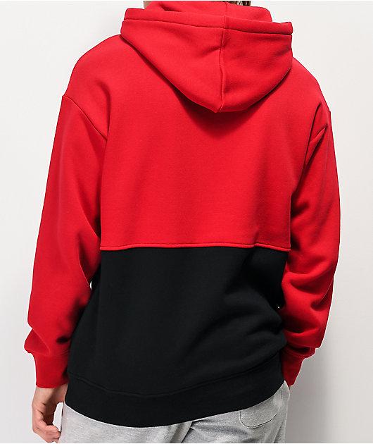 Zine Mass sudadera con capucha roja y negra
