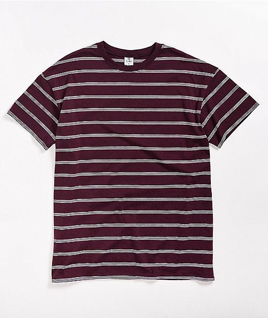 Zine Maya Burgundy Striped T-Shirt