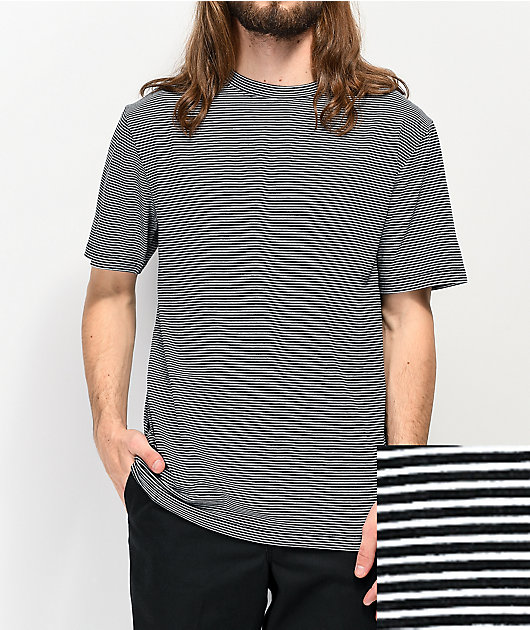 Zine Micro Black & White Striped T-Shirt