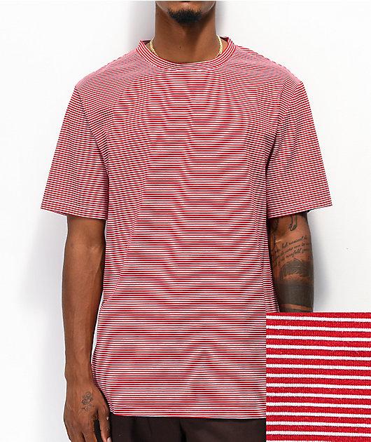 Zine Micro Red & White Striped T-Shirt
