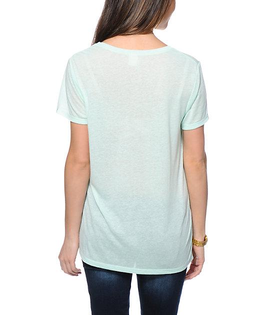 Zine Mint Boyfriend Fit Pocket T-Shirt