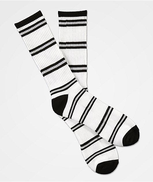 Zine Myth White, Light Grey & Black Crew Socks
