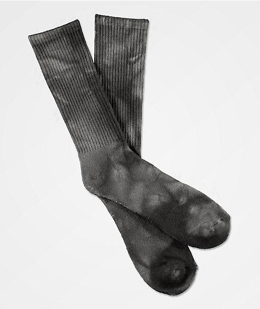 Zine Ombre Black Tie Dye Crew Socks