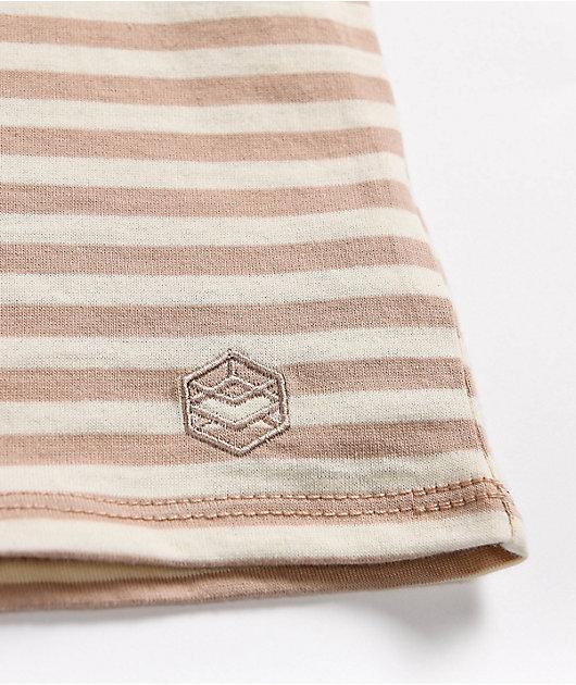 Zine Phinney Brown & Tan Stripe T-Shirt