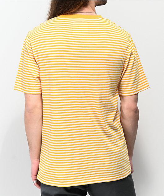 Zine Ranked Yellow & White Striped T-Shirt