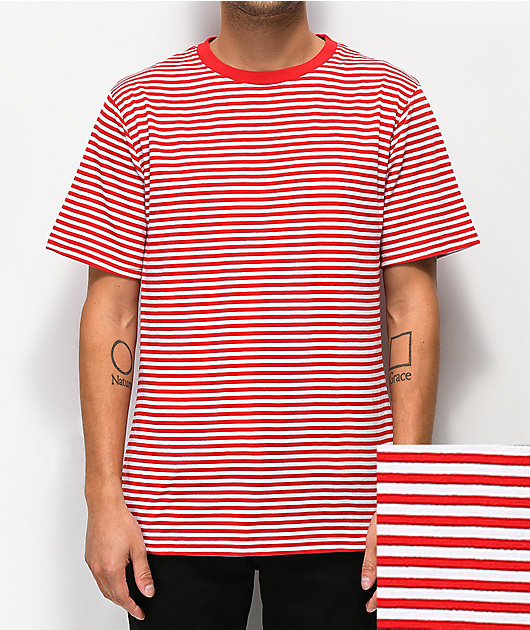 Zine Ranked camiseta de rayas roja y balnca