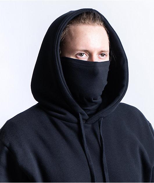 Zine Safety Black Mask Hoodie