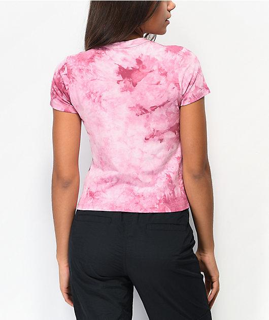 Zine Tania camiseta corta tie dye rosa