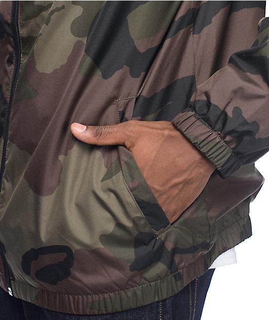 Zine Training Camo Lined Windbreaker Jacket