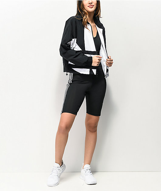 adidas 3 Stripe Black Cycling Suit