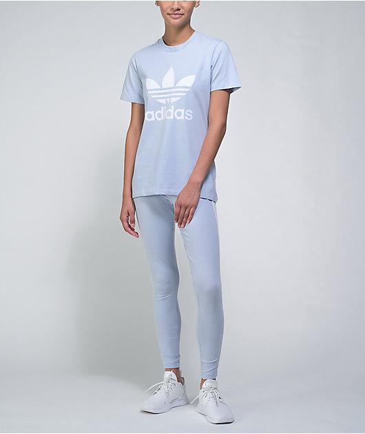 adidas 3-Stripe Halo Blue Leggings