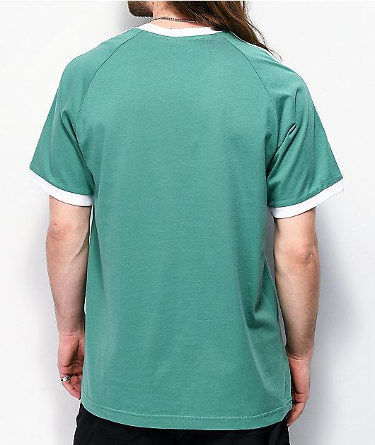 adidas 3 Stripe Light Green T-Shirt
